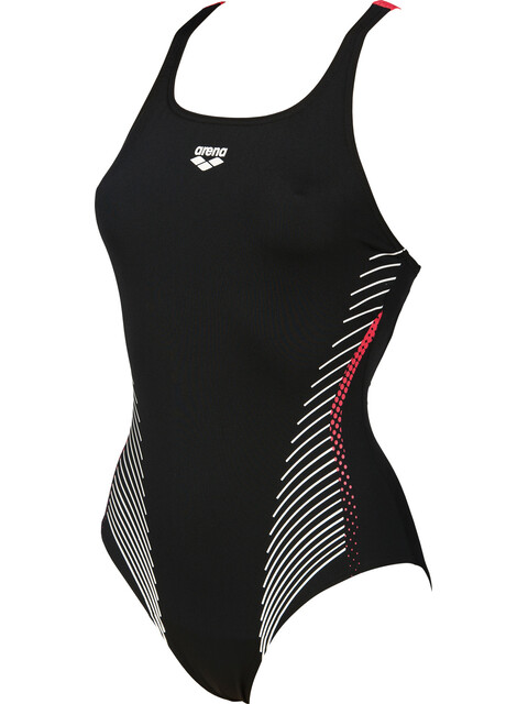arena Fluids Swimsuit Women black-fluo red